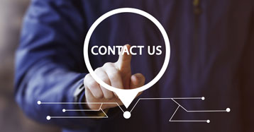 Person pusing the Contact Us button | Quote Request